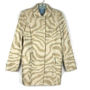 J Mclaughlin Animal Print Long Jacket